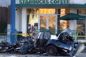 Starbucks Stops Stolen Police Car